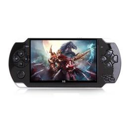 Console de jogos portátil de 4,3 polegadas 8gb on-line-X6 Handheld Game Console Tela de 4.3 polegada Para PSP Game Store Jogos Clássicos Saída de TV Portátil Video Game Player