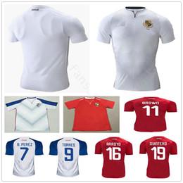 tazze di infermiere Sconti 2019 Gold Cup Panama Soccer Maglie 9 TORRES 11 MARRONE 16 ARROYO QUINTERO B.PEREZ NURSE GODOY Custom Home Away Maglia da calcio bianca