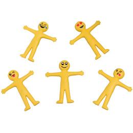 2019 poupées jaunes jaunes Emoji Small Person Doll Enfants étirables Jouets souple et flexible jaune Accueil drôle cadeau Livraison gratuite promotion poupées jaunes jaunes