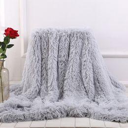 2019 cobertor decke Doppelseitige Kunstpelzdecke Weiche, flauschige Sherpa-Wurfdecken für Betten decken Shaggy-Tagesdecke Plaid-Fourrure-Cobertor-Mantas ab rabatt cobertor decke