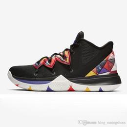 30398451b040 2019 New Kyrie 5 Männer Basketball-Schuhe für Billig Verkauf Irving 5s CNY  Multi-Color Schwarz Weiß University Red Bruce Lee Sneakers Sport Trainer  rabatt ...