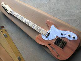 weiße flamme ahorn gitarre Rabatt Flamme Ahorn Hals Golden Hardware elektrische Gitarre mit Ahorngriffbrett, White Pearl Schlagbrett, 2 Pickups, kann individuell angepasst werden