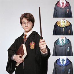 2019 fantasia de princesa de princesa amarela Harry Potter manto capa Cosplay crianças adulto Harry Potter manto de robótica grifinória Slytherin Ravenclaw Robe manto trajes