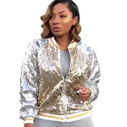 3cecad050d9 sequin bomber jacket Coupons - Sexy Glitter Sequin Basic Jacket Women  Autumn Long Sleeve Zipper Shining