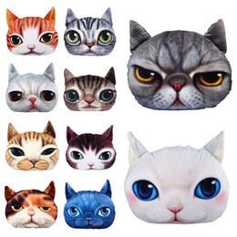 3d soft case cat Coupons - 3D Doll Case Kids Gift Birthday Gift Christmas Doll Cute Cat Soft Plush Face Pillow Home Decor Pillow Case