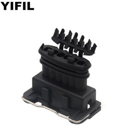 2020 connettori tyco amp 5pcs / lot AMP / TYCO 6 pin a 6 vie femmina Junior Power Timer JPT connettore munito di terminali dei cavi Seals 282.236-2 auto connettori tyco amp economici