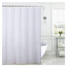 2019 eco amigável espessamento chuveiro cortina Jarl para casa Cortinas de Chuveiro Branco Forro Branco À Prova D 'Água Cortina de Chuveiro para o Banheiro sem Ganchos - Tecido de Nylon - 72 * 72