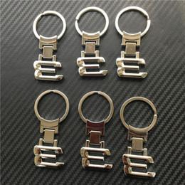 Portachiavi di numero online-DHL 500pcs Nuovo metallo alleato cromato Portachiavi auto portachiavi portachiavi numero 1 3 5 6 7 8 X serie