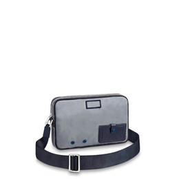 Poche portable en Ligne-Livraison gratuite mondiale classique en cuir correspondant hommes Toile Sacs à bandoulière meilleure qualité sac à main 43918 taille 28 cm 19 cm 6 cm
