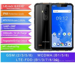 "a8 quad kern Rabatt Ulefone Armor 5 IP68 Wasserdichtes Mobiltelefon Android 8.1 5.85 ""HD + Octa Core 4GB + 64GB NFC Face ID Wireless Charge 4G Smartphone"