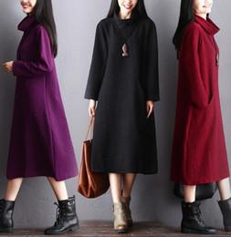 Canada 2018 hiver mode nouvelle soie coton jupe longue automne et hiver art grande taille lâche robe de base Offre