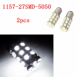 Domo de farol on-line-4 Pieces 1157 27SMD 5050 Branco Micro Dome Índice Car Lamp Lâmpadas LED Wedge White Light Farol DC12V