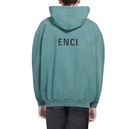 Moda oversize on-line-19FW BLCG Logo letra impressa Hoodies clássico Street Fashion Camisola encapuçado Outono Inverno cor sólida camisolas do Hoodie Oversize HFYMWY277