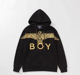 Adler junge schwarzen pullover online-Boy London Herren Designer-Jacken-Mode Markemens-Qualitäts-PulloverHoodie Männer-Frauen-beiläufige Eagle-Druck-Jacken-Schwarz