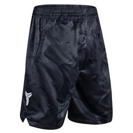 Pantalones cortos hombres poliéster online-Pantalones cortos para hombres Pantalones de baloncesto Pantalones cortos deportivos Negro Mamba Camuflaje KD Poliéster Longitud de la rodilla Transpirable Entrenamiento de secado rápido Active M-3XL
