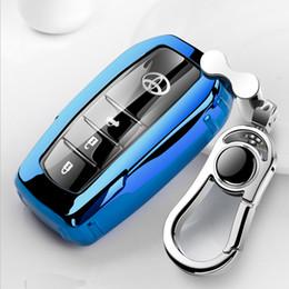 Couvercle pour clé de voiture toyota en Ligne-Brevet TPU Voiture Auto Key Key Cover Shell pour Toyota Camry Highlander Couronne Corollar Reiz Levin Accessoires De Voiture Styling