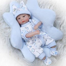 bambole veramente animate Sconti Commercio all'ingrosso 8inch 20 cm Bebe Reborn Mini bambola morbido silicone realistico giocattolo regalo per bambino Natale carino ragazzo blu cuscino