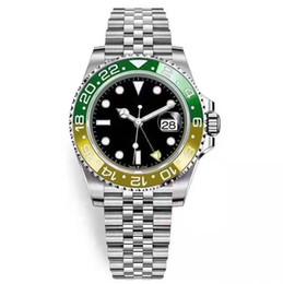 2019 дешевые автоматические мужские часы Мужские наручные часы синий черный керамический ободок Высокое качество дешевых дайвинг водонепроницаемый часы Мужчины Automatic Self Ветер Механические часы GMT Luxury скидка дешевые автоматические мужские часы