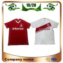 Futebol brasileiro on-line-New 2019 Internacional RS camisa de futebol 19/20 Brazilian Club Home camisa de Futebol vermelho N. LOPEZ N. PATRICK POTTKER Uniforme de Futebol