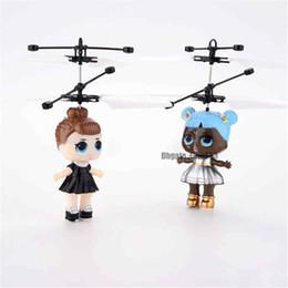 Электронные вертолеты онлайн-Кукла LOL RC Летающая Игрушка Световой Дрон Детский Электронный Инфракрасный Индукционный Самолет Пульт Дистанционного Управления Игрушки LED Light Mini Вертолет Игрушки