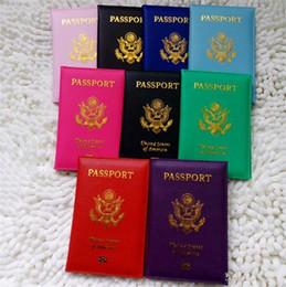 Viagem Bonito EUA Capa de Passaporte Mulheres Rosa EUA Passaporte Titular Americano 9 Cores Capas para Passaportes Meninas Caso Passaporte carteira supplier pink wallets de Fornecedores de carteiras cor de rosa