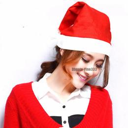 Grand père noël en Ligne-Nouvel an Chapeau Fête De Noël Père Noël Chapeaux Rouge Et Blanc Chapeau Chapeau De Noël Pour Le Père Noël Costume De Noël Décor Pour Adulte