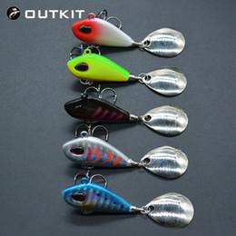 Вибрационные приманки онлайн-OUTKIT новый металлический мини-виб с ложкой рыболовная приманка 6g10g17g25g 2 см рыболовные снасти Pin воблер вибрации блесны тонущая приманка