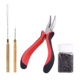 Набор для наращивания микрокольцевых колец онлайн-Плоскогубцы из бисера Meicoly для наращивания волос с инструментами из 500шт. Силиконовых прокладок в бутылочке