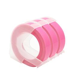 2019 fita 9mm CIDY 3 rolos 9 MM Dymo 3D Fluorescente de Plástico Rosa Embossing Tape para Gravação Criador de Etiquetas DYMO 1011 1610 12965 MOTEX E101 fita 9mm barato