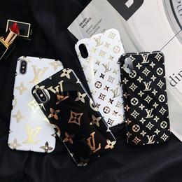 Housse en cuir iphone marquée en Ligne-Cas de téléphone de luxe en cuir pour iPhone X XS Max XR 6 7 8 Plus cas de marque de mode Designer Designer téléphone cas de couverture