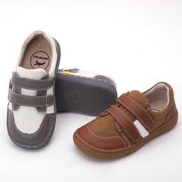 Niños zapatos descalzos online-Pekny Bosa Brand Leather Stitching Kids Barefoot Shoes Para Niños Niñas Zapatos Escolares Suficientemente Superior Toe Kids Sneakers Tamaño 25-35 Y190525