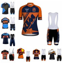 2019 ktm camisa de ciclismo Novo 2019 KTM Ciclismo Mangas Curtas jersey (babador) shorts conjuntos Road Ride Bike Wear kit Ciclismo Roupas Sportswear K040706 ktm camisa de ciclismo barato