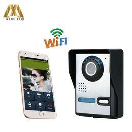 Sistema de intercomunicación a control remoto online-El sistema de control de acceso de control remoto de acceso WiFi1006 de la cámara IR de alto píxel WIFI Video Intercom Video Door Phone System envío gratis