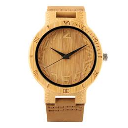 Montre en bois en bambou pour hommes, Montres en bois de bambou pour femmes, Cadran numérique artistique ? partir de fabricateur