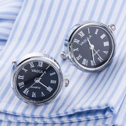 Новое поступление реальные часы запонки VAGULA часы запонки с аккумулятором турбины ядро машины механические Gemelos D19011004 от