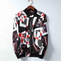 Giacca da uomo nuova Dolce marca Gabbana Giacca da uomo firmata Corona Stampa Casual Moda Cotone Top Cappotto da moto di alta qualità cheap coat crown jacket da giacca di corona del cappotto fornitori