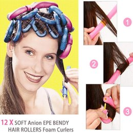 cabelo rolos penteados Desconto Acessórios de salão 12 Pcs Magia Auto-adesivo Encaracolado Esponja Vara HairStyle Maker Ferramenta DIY Salon Acessório H7JP