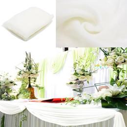 Argentina 2pcs 5m / 10m * 1.35m bufanda escarpada del Organza de Mesa para fiesta de cumpleaños de la boda del Telón de fondo de los Swags hogar de la cortina de la decoración B01 Suministro
