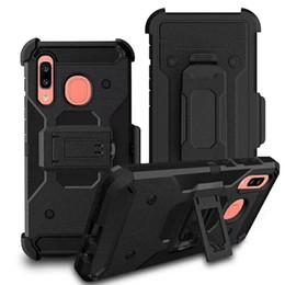 Iphone 5s holster online-Defender Holster Case für Iphone 5S / 6/7/8 / 6P / 7P / 8P / X / XR / XS MAX / 11/11 PRO / 11 2019 MAX Robuster Schutz mit Kickstand-Gürtelclip-Abdeckung