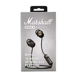 2020 meilleur casque bluetooth pour blackberry Marshall Minor II Bluetooth écouteurs sans fil DJ parfait Casques d'écoute son magnétique Fonction Pause meilleure qualité Factory Store meilleur casque bluetooth pour blackberry pas cher