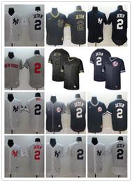 2019 jersey patriota negro Hombres, mujeres niños personalizados 2019 Yankees 2 Derek Jeter New York Jersey auténtico blanco