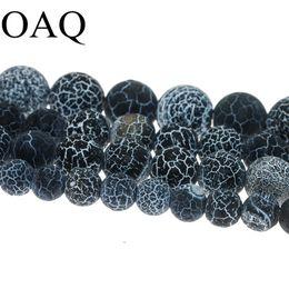 драконьи жилы бисер Скидка 4-14mm Black Onyx  Natural Stone  Carnelian Dull Polish Fire Dragon Polish Veins For Jewelry Making Wholesale