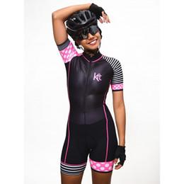 Camiseta de ciclismo rosa equipo femenino online-2019 Pro Team Triatlón Traje de ciclismo de la mujer traje de mono de la princesa Maillot Ciclismo Ropa ciclismo set pink gel pad 004
