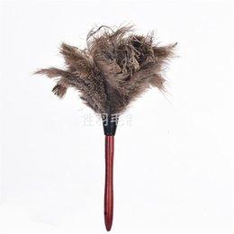 Kopfstangen online-40 Cm Entfernen Sie Staub-Staubwedel-Haushalt-runde Hauptstrauß-Haar-Rotholz-Pfosten-Staubtücher Kreativer populärer heißer Verkauf