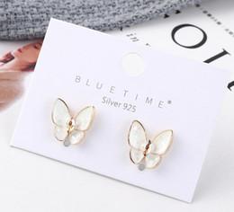 Deutschland 2019 neue Mode Ornamente Schmetterling Elfen Kristall Ohrstecker S925 Silber Nadel Schmuck brillante und brillante Ohrringe B-3866_1 supplier elf earrings Versorgung