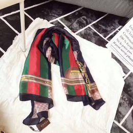 Cajas de satén de seda online-2019 estilo de verano bufanda de las mujeres de seda de impresión foulard satén largo marca bufandas mujeres floral delgado diseño mantones 180 * 90 cm TU-11a sin caja