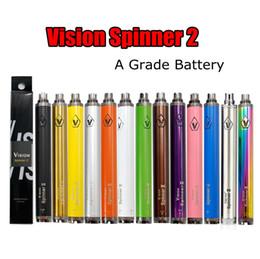 L'atomizzatore della penna di visione di vape online-Vision Spinner 2 batteria 1650mah ego Twist 3.7 V-4.8 V Vision Spinner ii Batteria Vape Pen tensione variabile per 510 thread atomizzatore