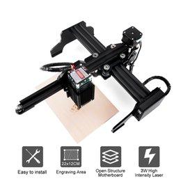 2019 piccolo taglio laser new3w / 7W incisione laser macchina, area di lavoro: 20 * 17cm, piccolo taglio automatico portatile plotter Bluetooth marcatura logo macchina piccolo taglio laser economici