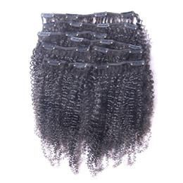 heißer unberührter Afro verworrener gelockter Klipp in den menschlichen Haar-Erweiterungs-natürlichen schwarzen vollen brasilianischen Remy Haar-Haar-Haarspange ins freies Verschiffen von Fabrikanten