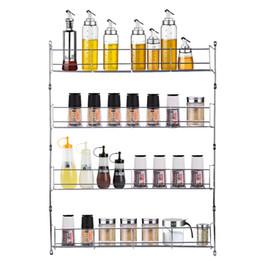 2019 porte-épices 4 Cuisine Spice Jar Tiers Rack Cabinet Organisateur support mural étagère de rangement Support Support SH190918